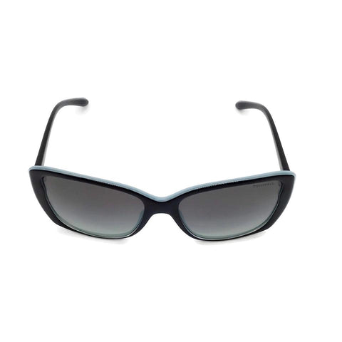Tiffany & Co. Black/Aqua Rectangle Sunglasses