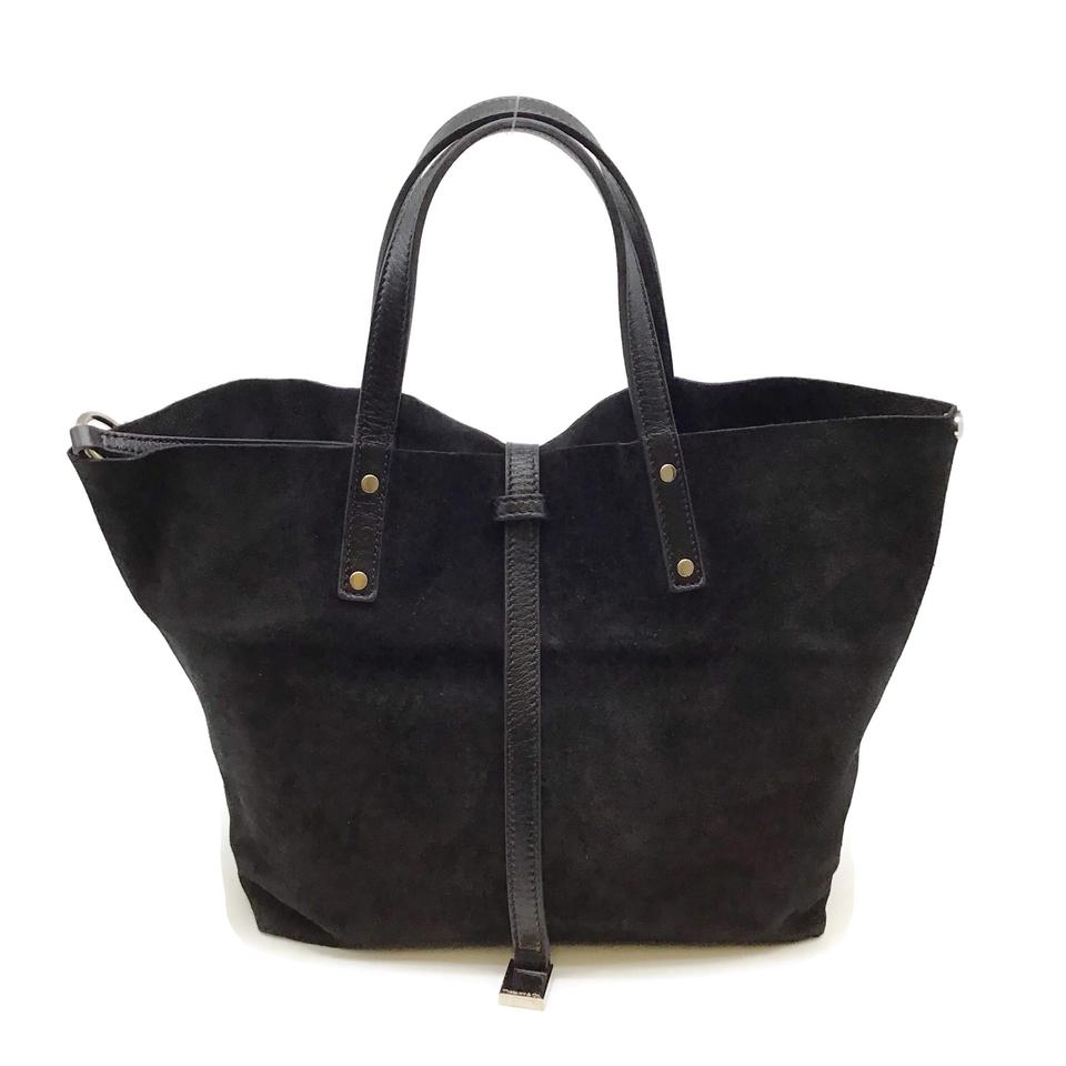 Tiffany & Co. Reversible Black Suede Leather Tote