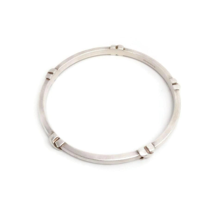 Tiffany & Co. Sterling Silver X Bangle Bracelet