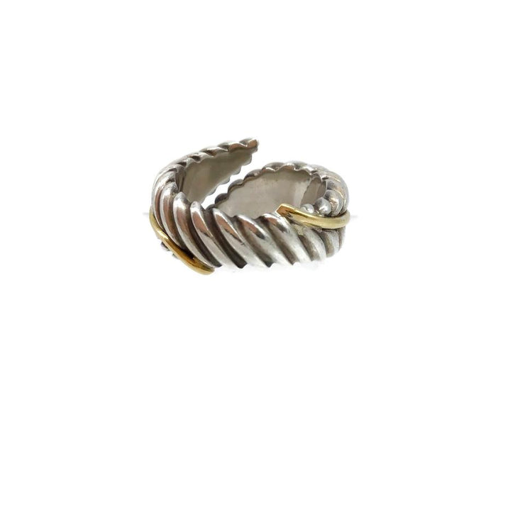 Tiffany & Co. Sterling/Gold Wrap Leaves Ring