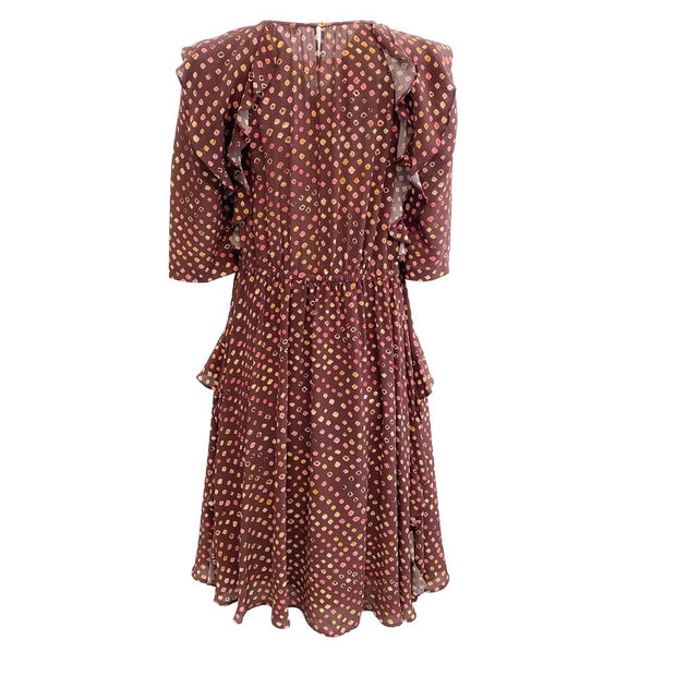Ulla Johnson Brown Multi-Color Work/Office Dress