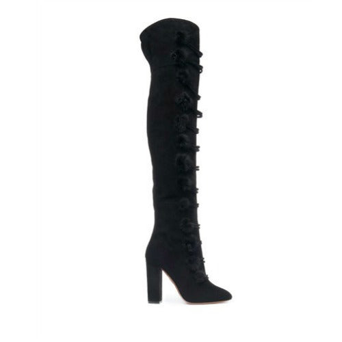 Ulyana 105 Black Boots by Aquazzura side