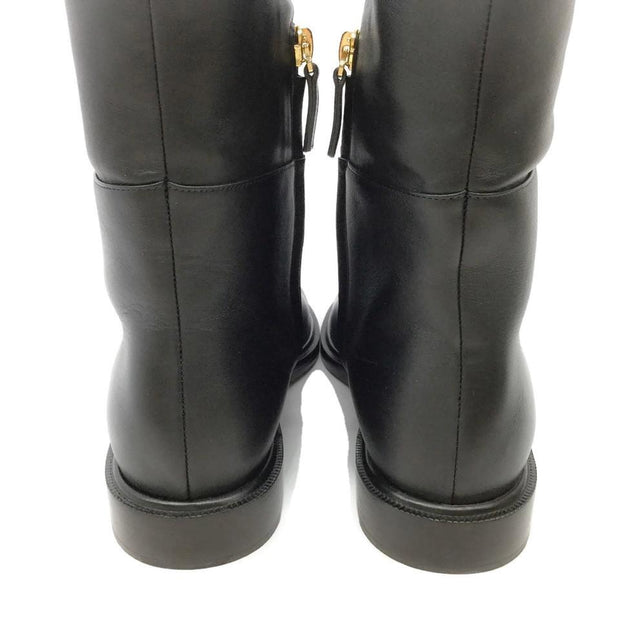 Valentino Black Pansy Bloom Tall Boots/Booties