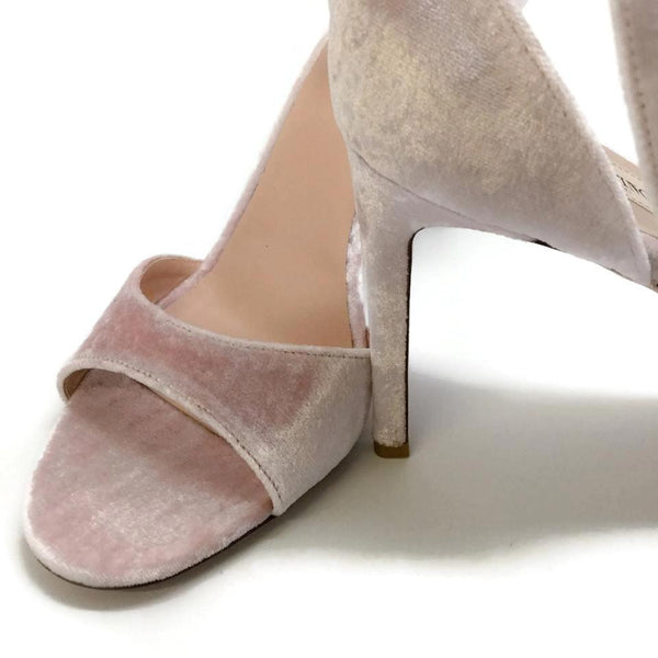 Valentino Blush Velvet Bow Pumps