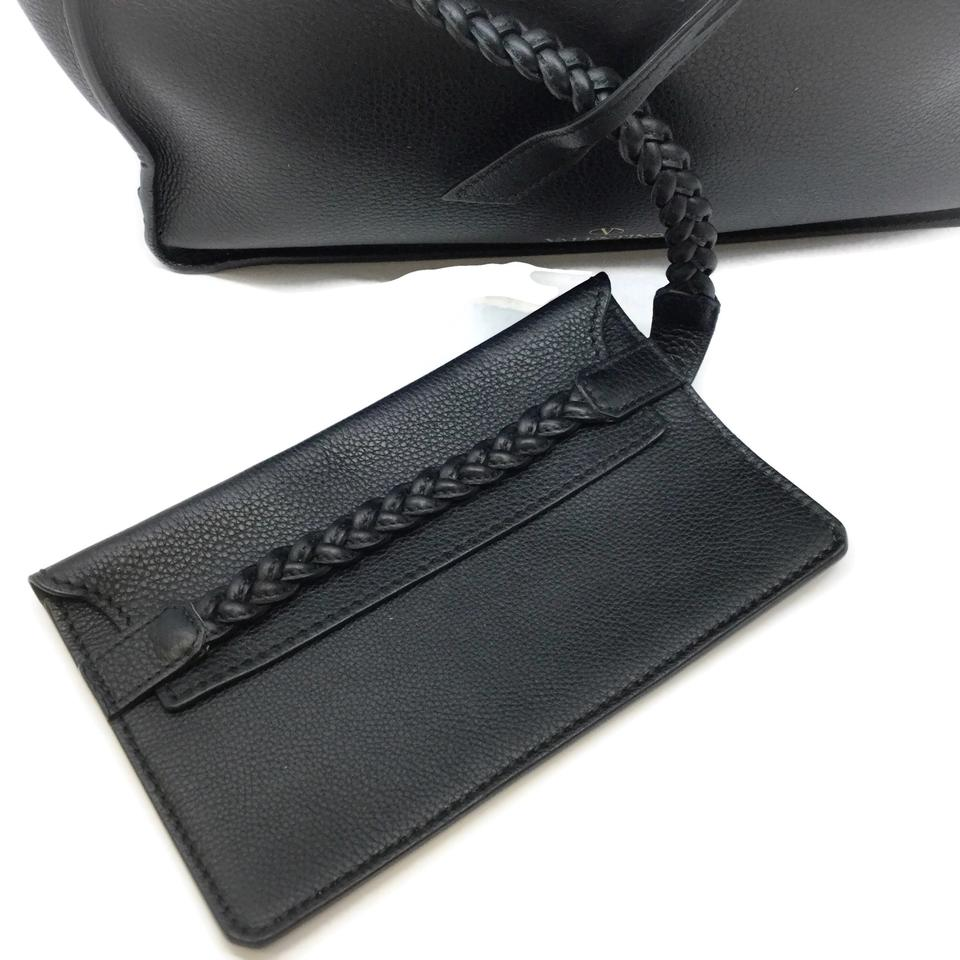 Valentino Braided Black Leather Tote