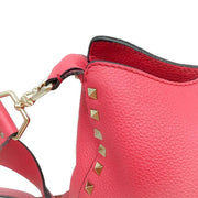Valentino Rockstud Pink Leather Cross Body Bag