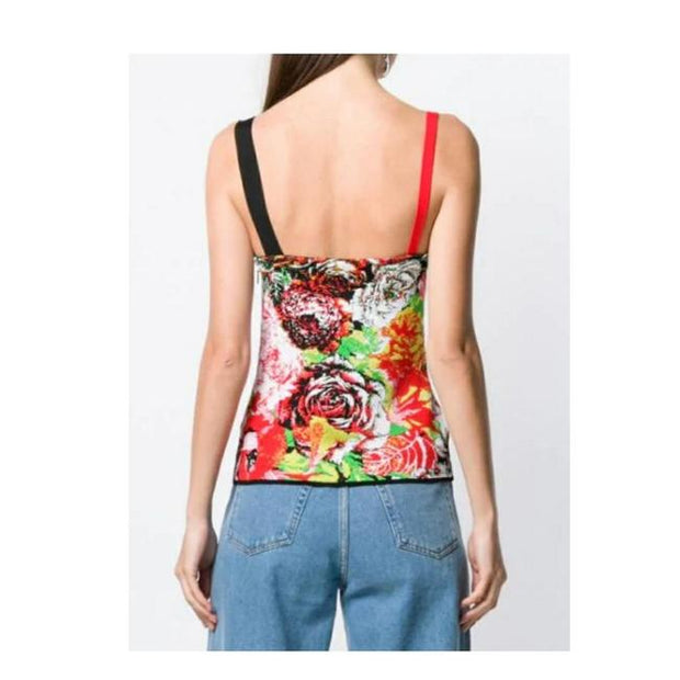 Versace Floral Print Knit Top