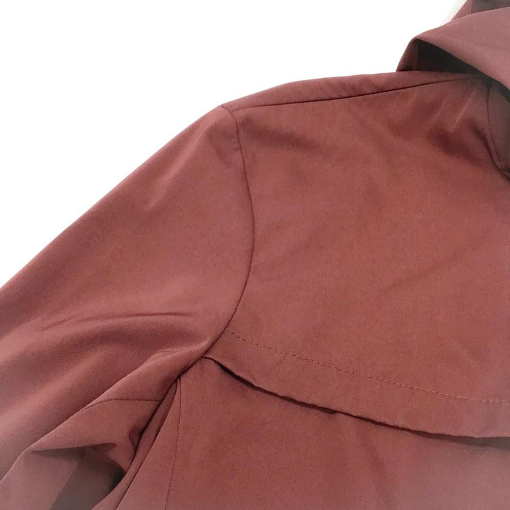 Vince Burgundy Mens Hooded All Weather Jacket