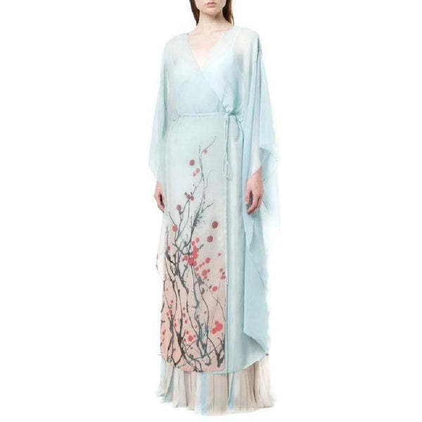 Vionnet Light Blue Kimono Maxi Dress