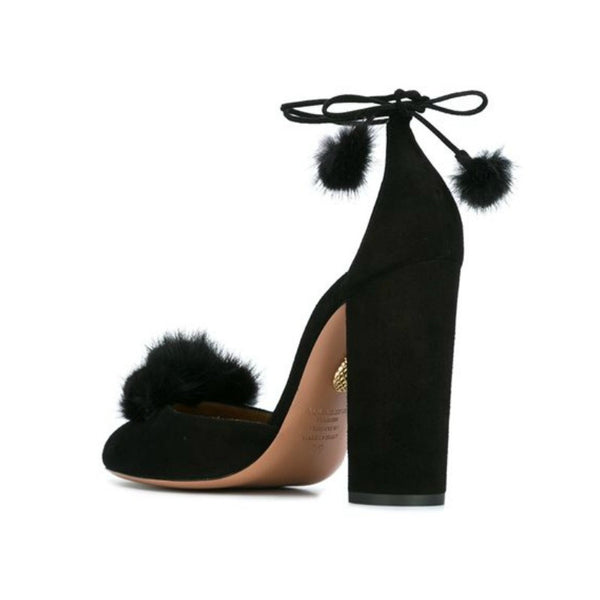 Wild Russian Black D'Orsay Pumps by Aquazzura back