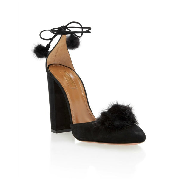 Wild Russian Black D'Orsay Pumps by Aquazzura