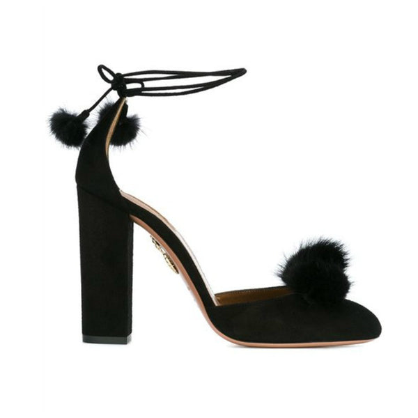 Wild Russian Black D'Orsay Pumps by Aquazzura side