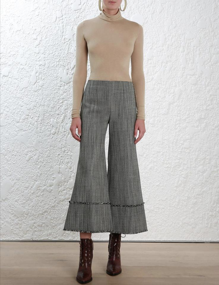 ZIMMERMANN Grey Folly Sovereign Kick Flare Pants