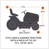 "Classic Accessories 55-081-010401-00 Lawn Tractor Cover, Black, Up to 54"" Decks - gregsrepair.com"