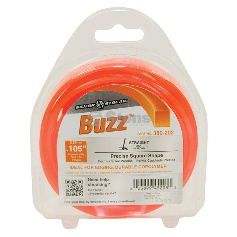 Silver Streak Buzz Trimmer Line .105 30' Clam Shell - gregsrepair.com