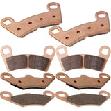 ECCPP® Front and Rear Sintered Brake Pads Fits 2008 Polaris Ranger 800 RZR FA456 FA159 - gregsrepair.com