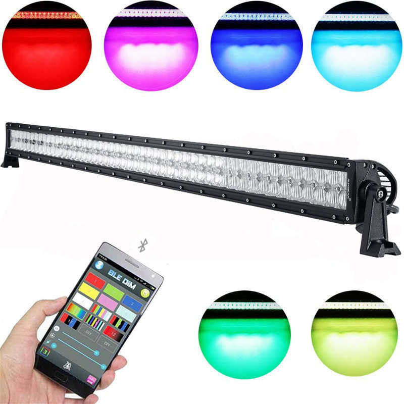 AUXBEAM V-SERIES 52 INCH 300W COMBO STRAIGHT RGB LED LIGHT BAR (5D PROJECTOR LENS) - gregsrepair.com