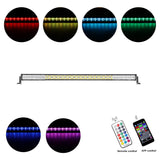 AUXBEAM CROSS-2 SERIES 52 INCH 300W RGB STRAIGHT COMBO BEAM LED LIGHT BAR (RGB CROSS-STYLE DRL) - gregsrepair.com