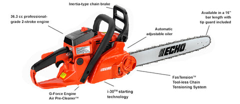 CS-370F 36.3 cc Chain Saw with i-30 Starter and FasTension - gregsrepair.com