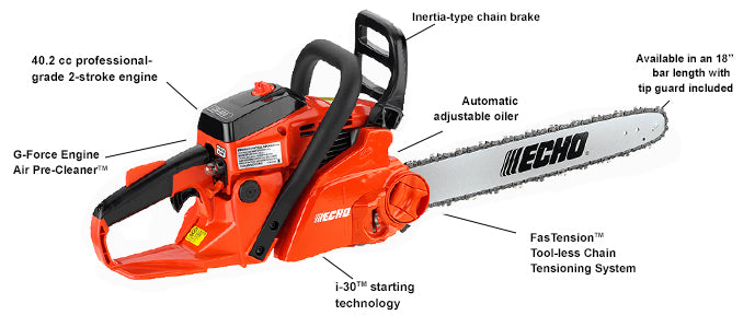 CS-400F 40.2 cc Chain Saw with i-30 Starter and FasTension - gregsrepair.com