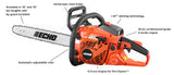 CS-400 40.2cc Chain Saw with i-30 Starter - gregsrepair.com