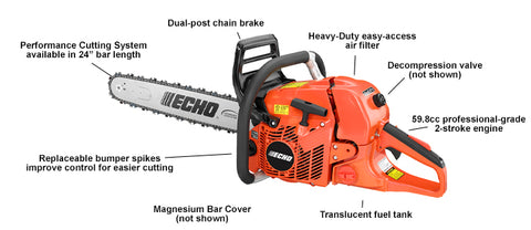 CS-620PW 59.8 cc Wrap Handle Chain Saw - gregsrepair.com