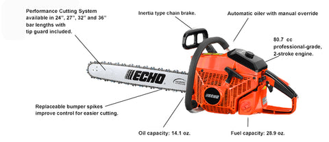 CS-800P 80.7cc Chain Saw - gregsrepair.com