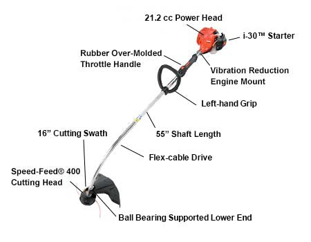 GT-225L 21.2CC TRIMMER CURVED SHAFT TRIMMER-EXTRA LENGTH CURVED SHAFT - gregsrepair.com