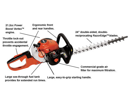"HC-155 21.2cc Hedge Trimmer with 24"" Blades - gregsrepair.com"