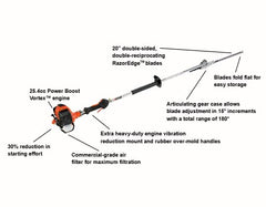 "HCA-266 25.4 cc Articulating Hedge Trimmer with 59"" Shaft and i-30 Starter - gregsrepair.com"