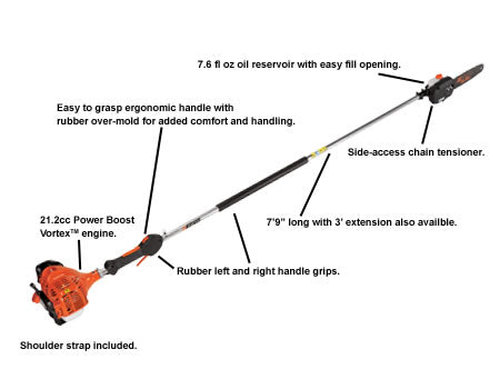 PPF-225 21.2cc Power Pruner with i-30 Starter - gregsrepair.com