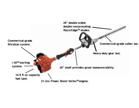"SHC-225S 21.2cc Hedge Trimmer with 20"" Shaft and i-30 Starter - gregsrepair.com"