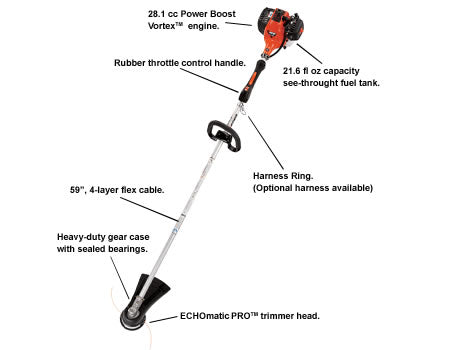 SRM-280S *28.1cc Steel Drive Shaft Trimmer - gregsrepair.com