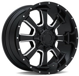 KODIAK SATIN BLACK MACHINED SPOKES 6on135 87.1 +15 -20X9.5