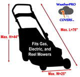 Lawn Mower Cover - Waterproof, Premium Heavy Duty - Weather and UV Protected Secure - gregsrepair.com