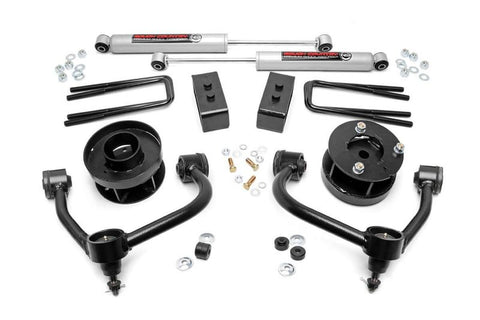 Ford: 14-18 F150 4WD - 3-INCH BOLT-ON SUSPENSION LIFT KIT W/ UPPER CONTROL ARMS SUSPENSION LIFT KIT ROUGH COUNTRY #RCS54530
