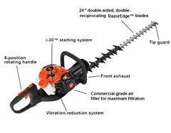 "HC-2420 21.2cc Hedge Trimmer with 24"" Blades and i-30 Starter - gregsrepair.com"