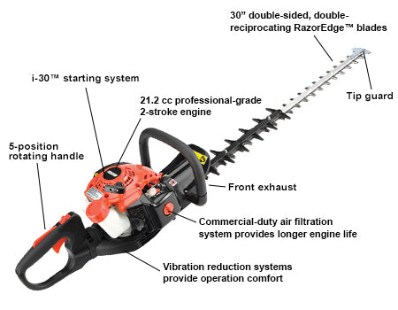 "HC-3020 21.2cc Hedge Trimmer with 30"" Blades and i-30 Starter - gregsrepair.com"