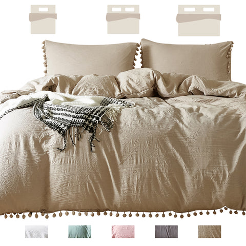 Duvet Cover Set-Queen Quilt Cover with Zipper Ties