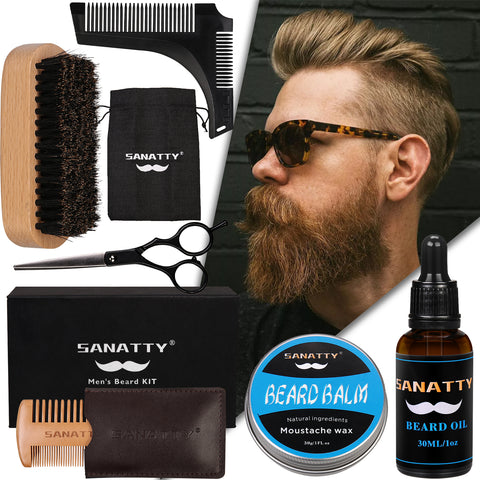 Beard Kit for Men Gift, 6 in 1 Beard Grooming Kit