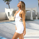 Sexy bandage halter large size dress s0070027