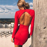 Sexy Open Back club Dress s0080018