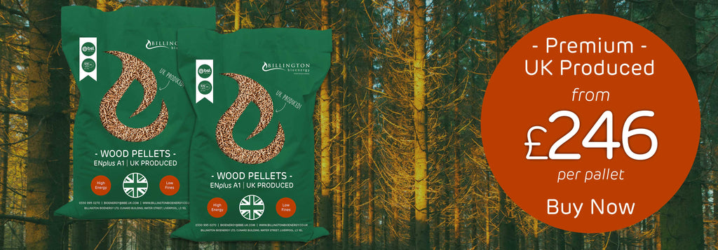 Premium UK Produced Bagged Wood Pellets