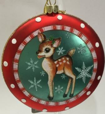 Christmas Disk Decoration Reindeer