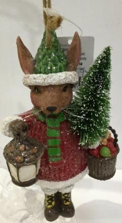Christmas Rabbit Hanging Ornament