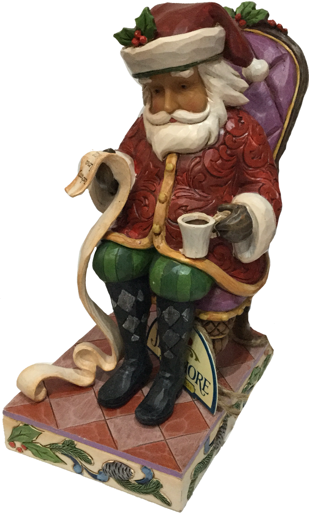 Santa In Chair With List