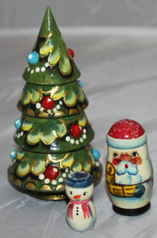 Babushka Xmas Tree Set Small