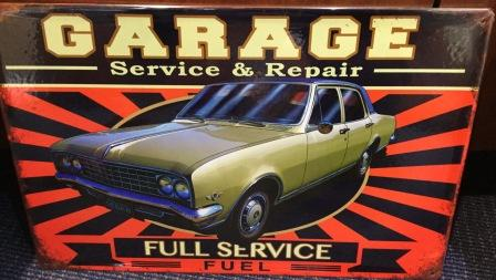 Garage service and repair classic sedan