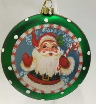 Christmas Disk Decoration Father Christmas