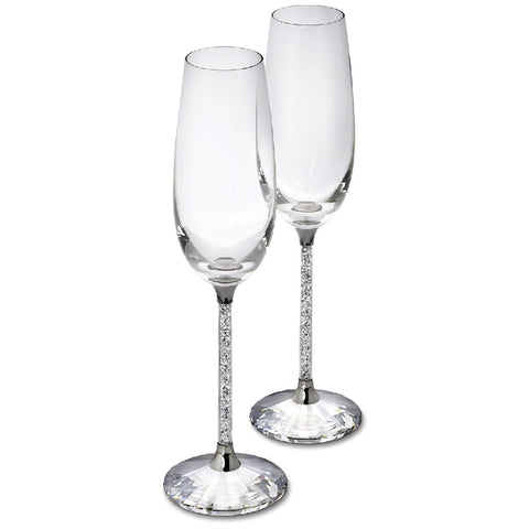 CRYSTALLINE TOASTING FLUTES (SET OF 2)